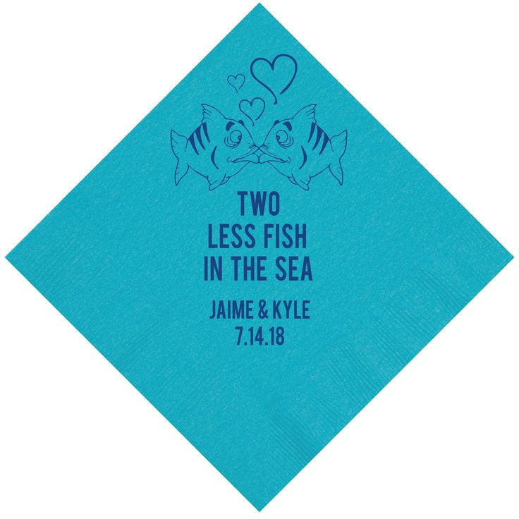 164 best images about two less fish in the sea wedding for Two less fish in the sea