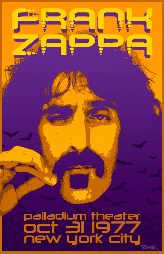 Frank Zappa 1977 Tour Poster by Tomasek on Etsy, $25.00