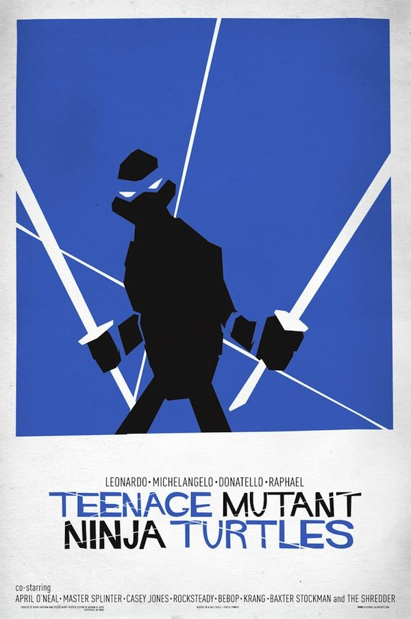 Saul Bass meets Ninja Turtles by Nathan Boyd