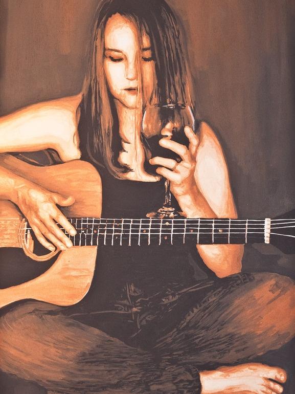 "Saatchi Online Artist: Eunika Rogers; Mixed Media, 2011, Painting ""Concerto of Deliverance"" (wine)"