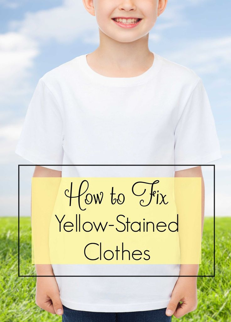 How to fix yellow stained clothes cleaning white clothes