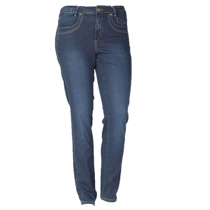 De fedeste Blå jeans med flotte syninger fra DeLuca DeLuca Modetøj til Damer i dejlige materialer