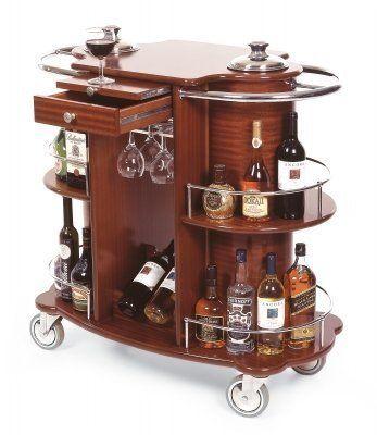 geneva bordeaux veneer finish two shelf wine and liquor cart