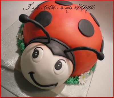 Ízek...torták...és más állatfajták: Katica torta - avagy ízek, torták, egyéb rovarfajták