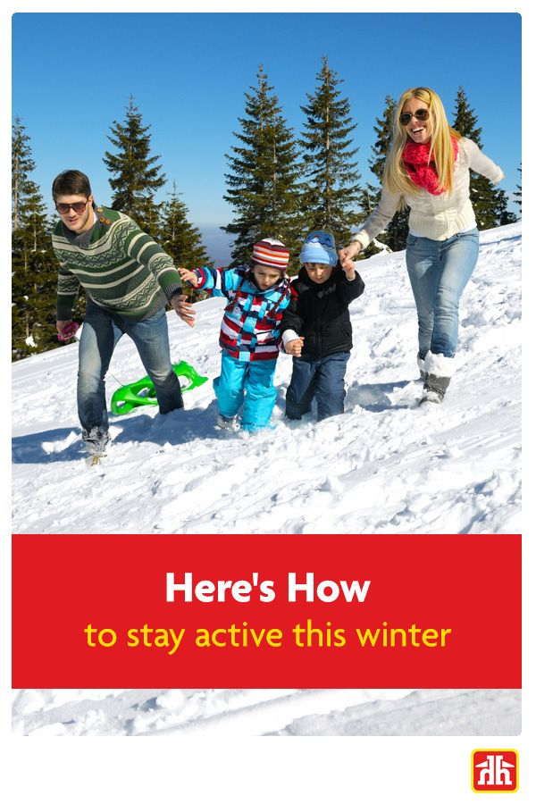 Staying active can be hard during a long and frosty Canadian winter. Here are some helpful tips to get the whole family active!