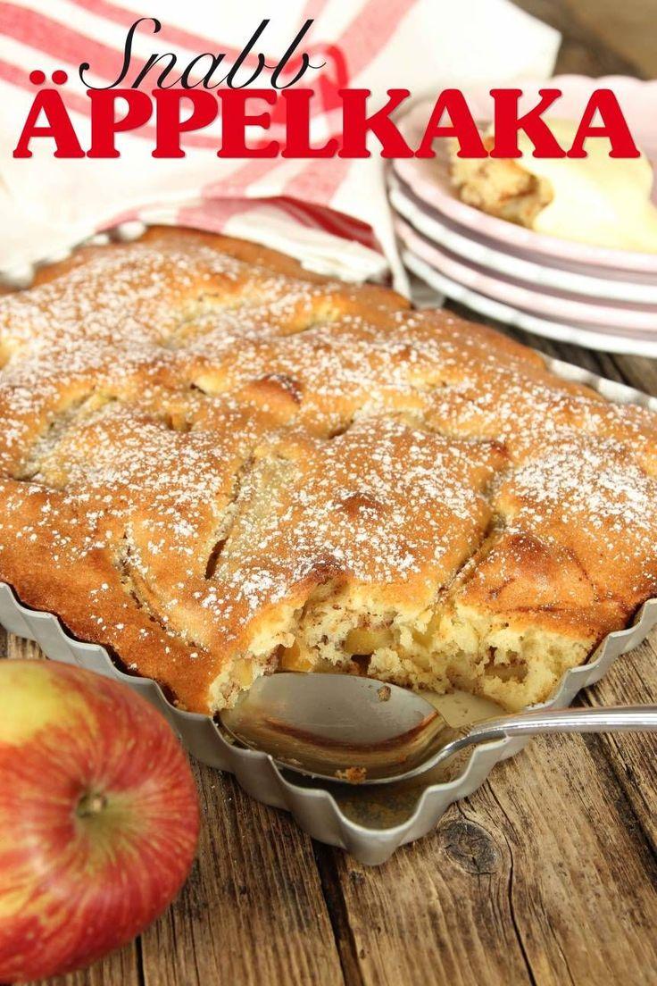 snabb äppelkaka