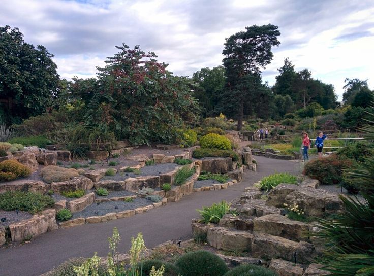 Stone garden in Kew Garden.
