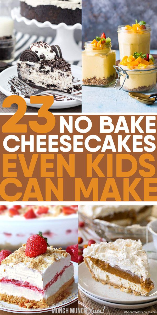 Easy No Bake Cheesecake Recipes In 2020 Cheesecake Recipes Diy Desserts Recipes Baking