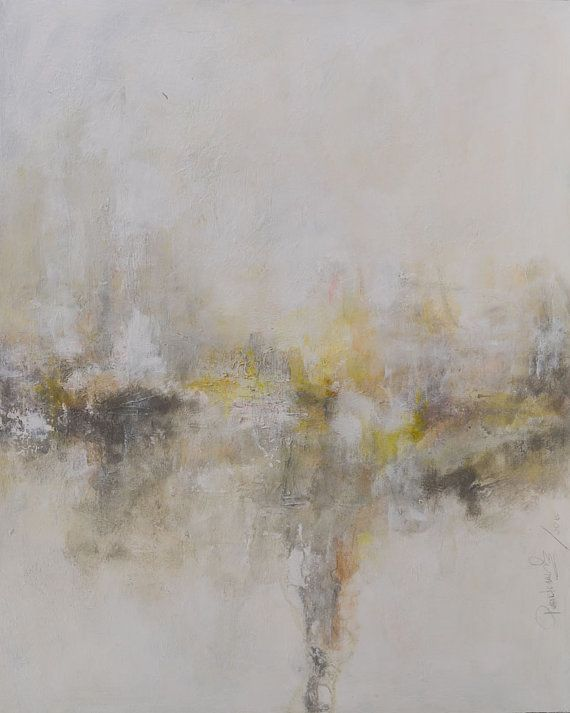 """24x30"""" light & metaphysical character abstract painting. Original acrylic and oil on high quality canvas. Misty moments 3"""