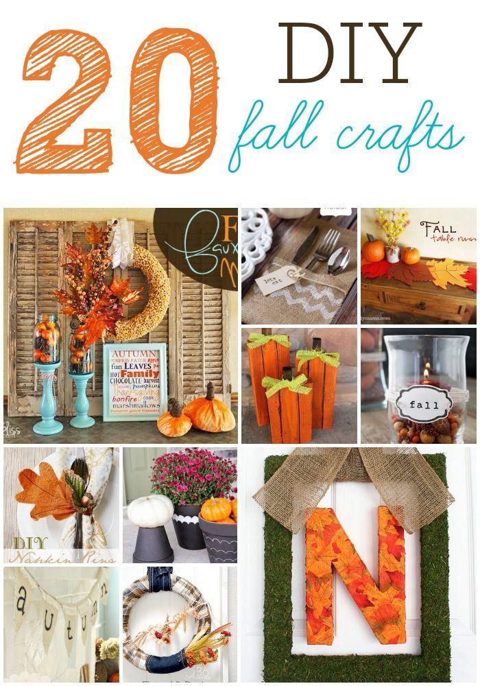 20 of the cutest DIY Fall Crafts!   SixSistersStuff.com