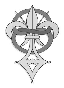 The official emblem of the Priory of Sion is partly based on the fleur-de-lis, which was a symbol particularly associated with the French monarchy.[1]