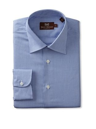Hickey Freeman Men's Micro-Check Dress Shirt
