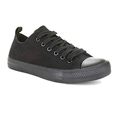 Twisted Womens Hunter Stylish Canvas Fashion Sneaker - Black, Size 6