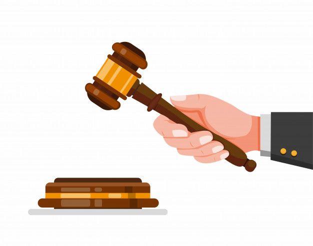 Martillo De Juez De Mano Simbolo De Mar Premium Vector Freepik Vector Mano Ilustraciones Planas Dama De La Justicia Martillos