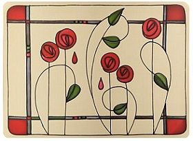 Mackintosh - Rose on far R for dress - in purple?