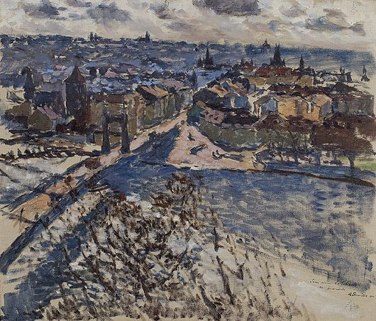 Antonin Slavicek - Praha s Letné / Prague from Letna, 1908, oil on canvas