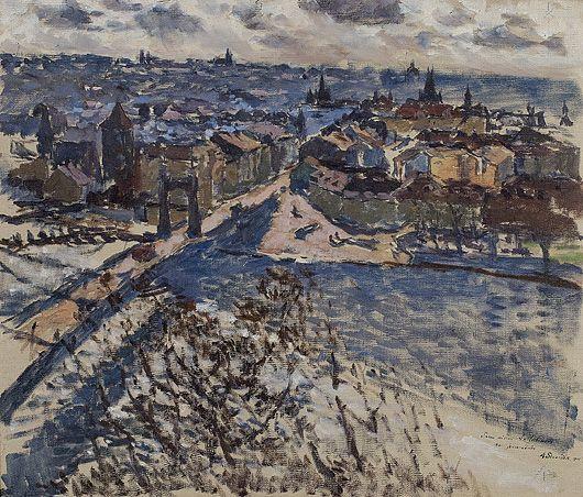 Antonin Slavicek - Praha s Letné / Prague from Letna, 1908, oil on canvas