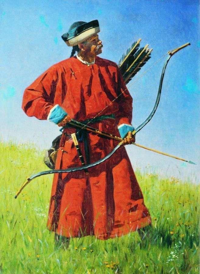 Василий Верещагин - Бухарский солдат (сарбаз) (1873)