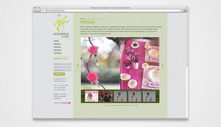 Fontana Flower Shop Website