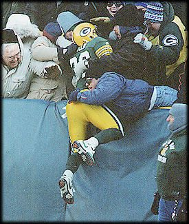 LeRoy Butler and the first Lambeau Leap!