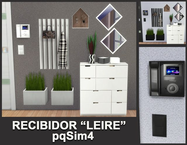 Leire hallway by Mary Jiménez at pqSims4 • Sims 4 Updates
