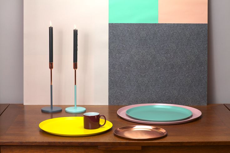 New candle holder & tray collection by Jansen+co for Serax