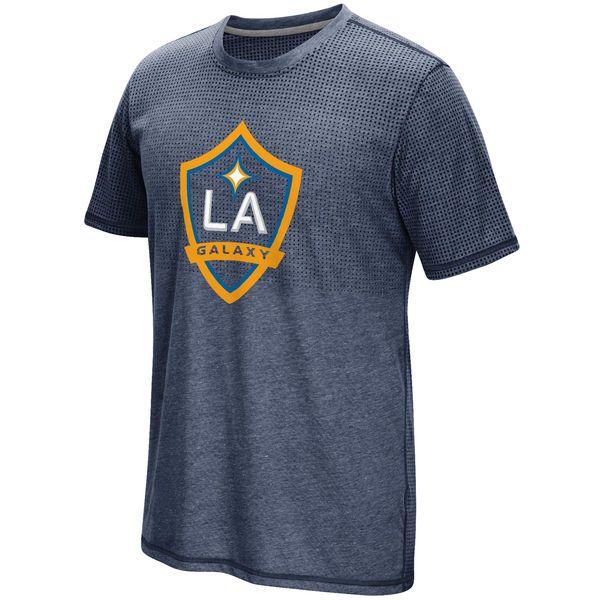 LA Galaxy adidas Crest Authentic climacool Aeroknit T-Shirt - Navy - $23.99