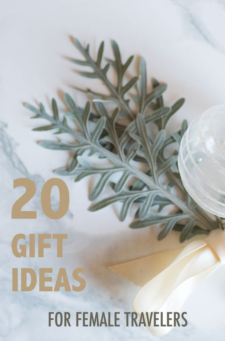 Need some ideas on what gifts to get for the female traveler in your life? Here are 20!