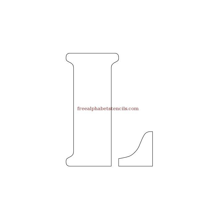 Uppercase Alphabet Stencil L
