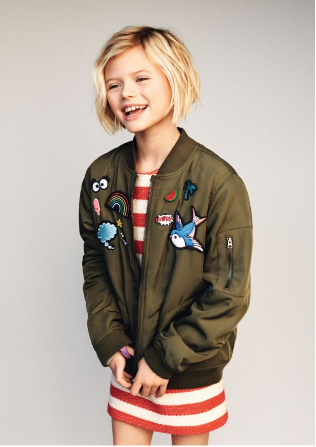 girls fashion, kidswear, kids fashion, kids editorial, girls bomber jacket