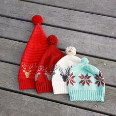 Decemberhuen – Opskrift på hæklet hue/nissehue med rensdyr eller julestjerne - Lutter Idyl