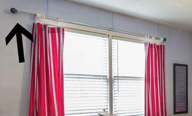 Baseball Curtain Rod Curtains Diy Curtains Baseball Curtains