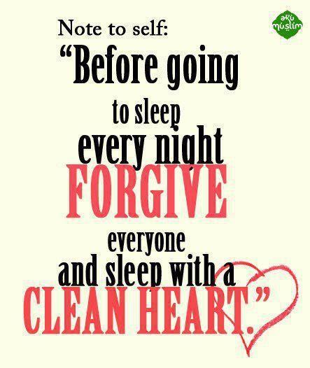 Before going to sleep every night