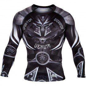 Venum Gladiator 3.0 Rashguard - Black/White - 1