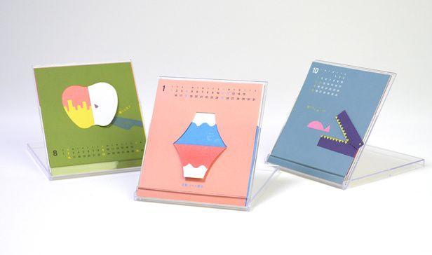 四季 折り折りカレンダー2015【卓上カレンダー】
