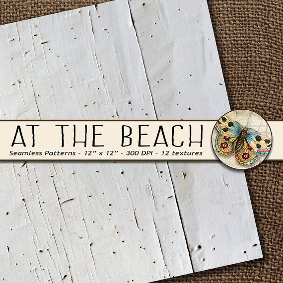 Shabby Chic Digital Paper Shabby Chic Beach by TheArtBoxDesigns