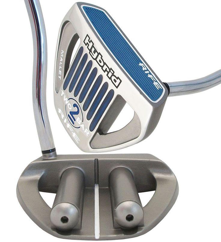 "NEW Guerin RIFE Golf Two Bar Hybrid Mallet Heal Shafted Putter 38"" (2) #GuerinRife"