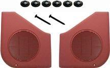 1987-93 Mustang Scarlet Red Door Speaker Grille Kit