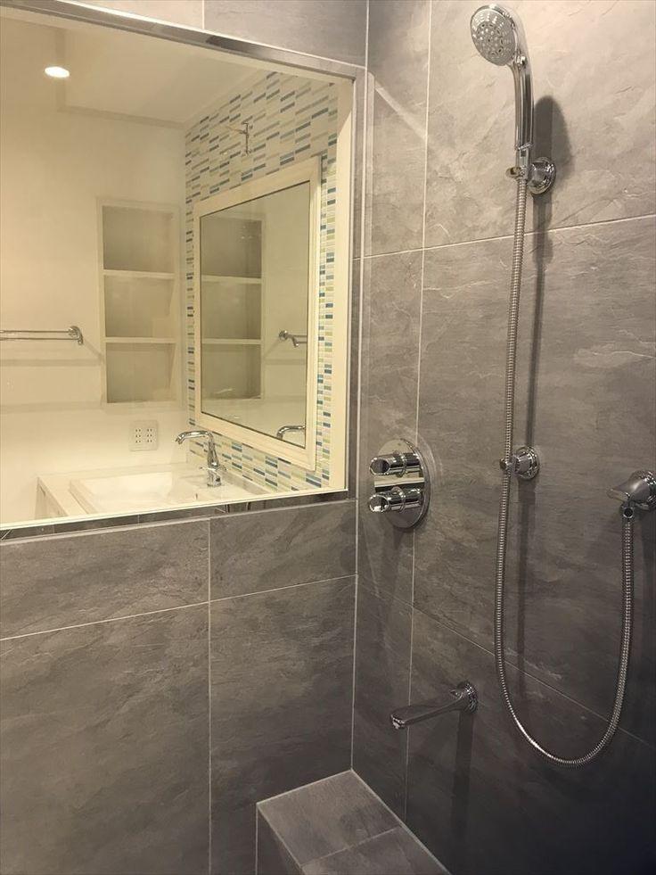 広いバスタブのあるこだわりの浴室 浴室