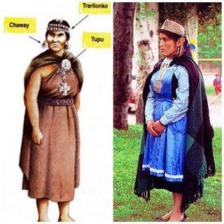Información Pueblo Mapuche: Vestimenta Mujer Mapuche