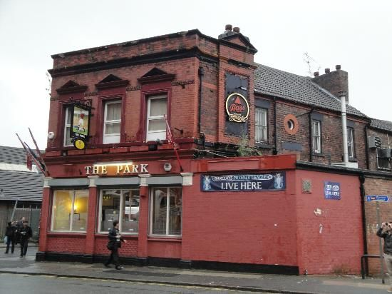Anfield Stadium: The Park, a Liverpool street pub across from the stadium,