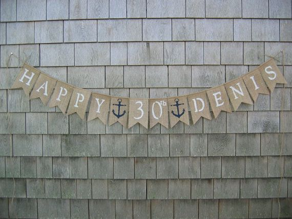 Custom Happy Birthday Banner Nautical Happy by IchabodsImagination, $24.00