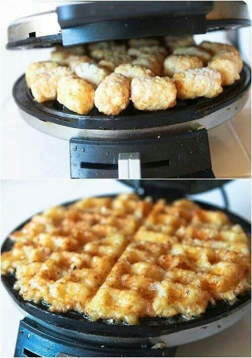 Potato gem (tater tots) waffles