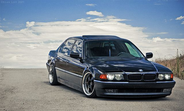 BMW E38 7 Series Black Stance