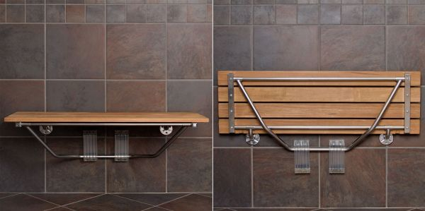 10 Folding Furniture Designs – Great Space-Savers And Always Good To Have Around. How many times did you wish you had a seat in the shower? It's a very practical thing to have in the bathroom because it adds comfort. However, most bathrooms are small so they don't have room for such accessories, which is why a folding shower seat is the perfect solution.