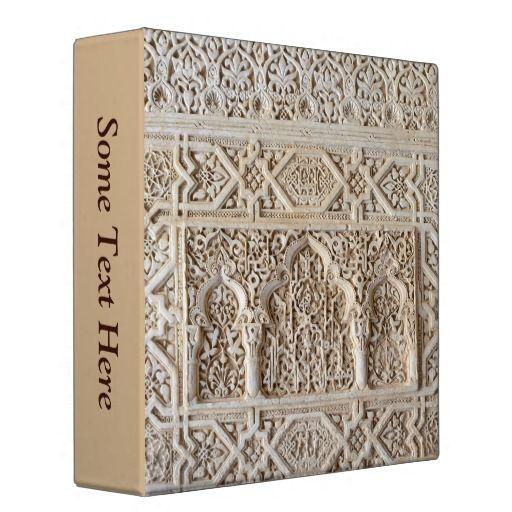 Alhambra pattern Binder