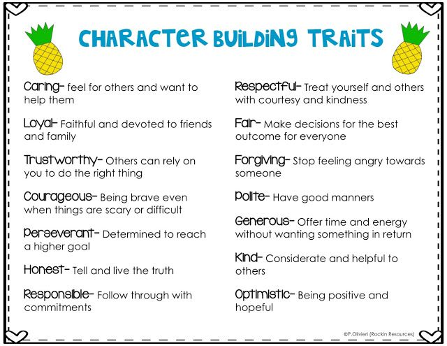 23 best Character Traits images on Pinterest Teaching reading - positive character traits