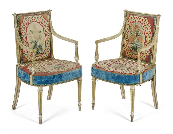 Awesome A PAIR OF GEORGE III CREAM PAINTED AND PARCEL GILT ARMCHAIRS POSSIBLY BY  ALEXANDRE. Georgian FurnitureVintage FurnitureHenry HollandLobby ...