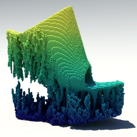 Francis Bitonti creates pixellated 3D-printed shoes using cellular automaton. #UNIQUE_WOMENS_FASHION