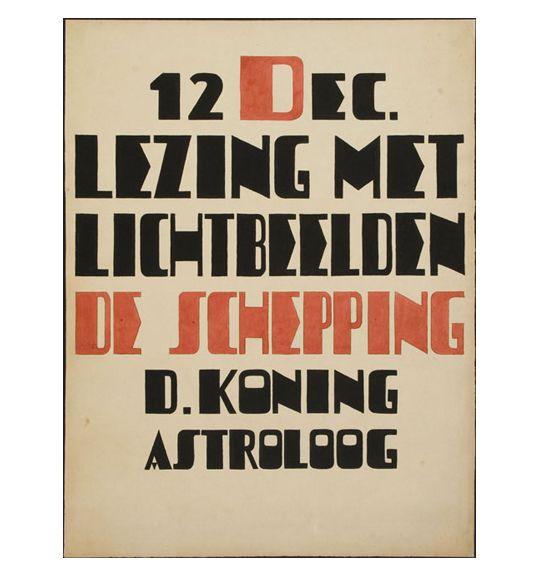 Louise (Lou) Loeber & Dirk Koning Untitled (Astroloog) ca. 1925